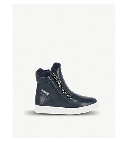 STEP2WO Parker leather booties 2-4 years (Navy