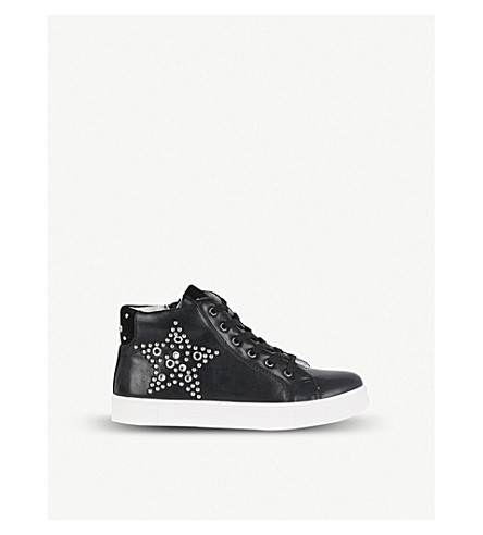 STEP2WO Astro star-studded leather trainers (Black