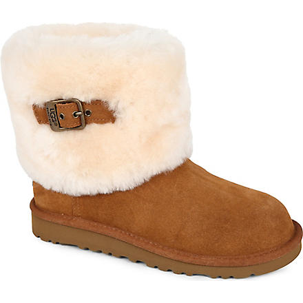 UGG Ellee buckle boots sizes UK 13 (kids)-UK 5 (adult) (Tan