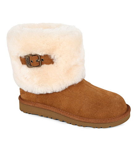 UGG Ellee buckle boots sizes 7-11 years (Tan