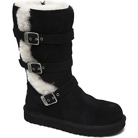 UGG Maddi buckle boots 7-11 years (Black