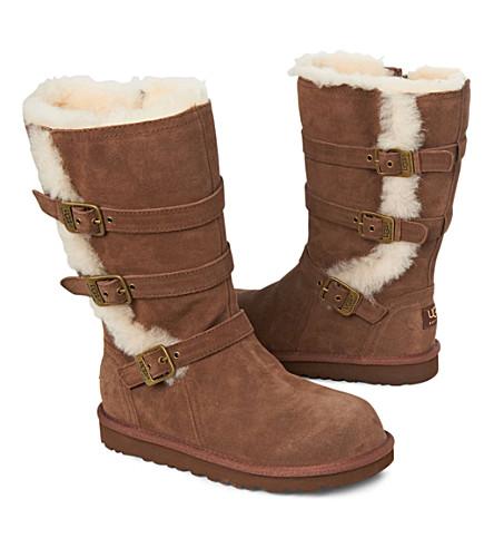 UGG Maddi buckle boots 7-11 years (Brown