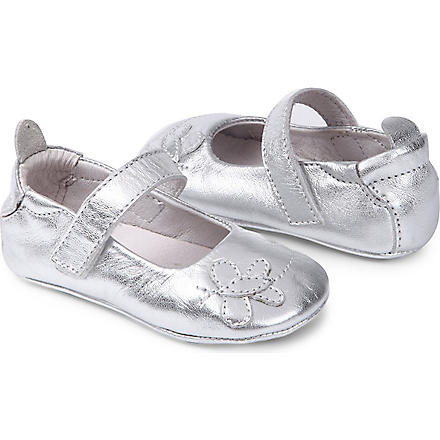 OLD SOLES Butterfly Mary Jane shoes 6 months-1 year (Silver