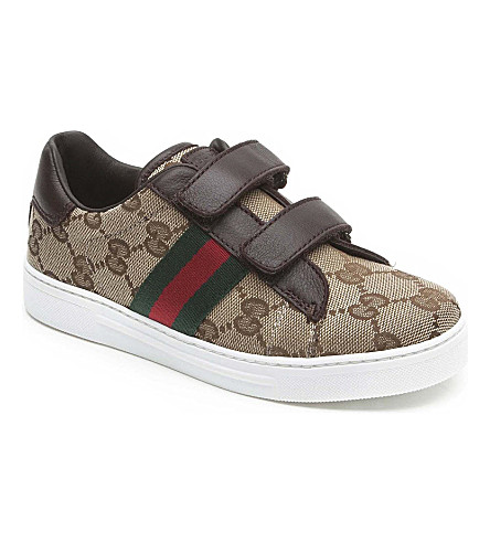 GUCCI Logo velcro trainers 5-8 years (Beige