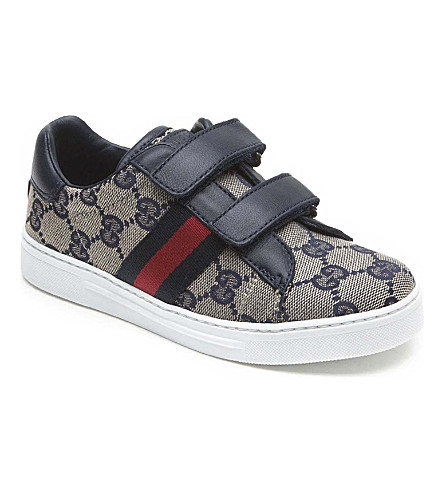 GUCCI Logo velcro trainers 5-8 years (Navy