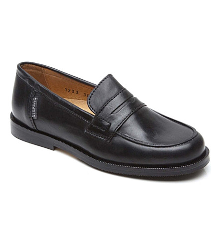 STEP2WO Leather penny loafers 7-12 years (Black+leather