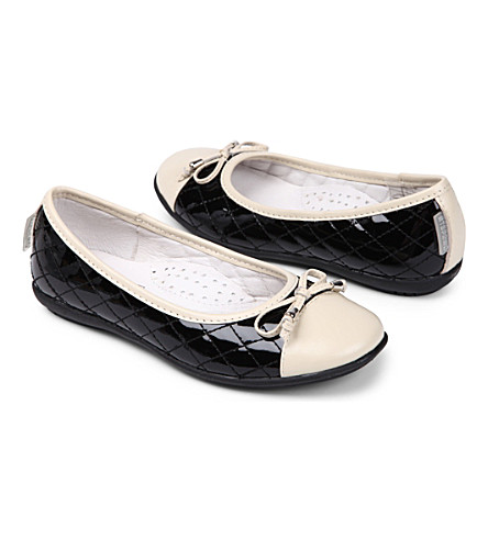 STEP2WO Kriss leather ballet flats 7-12 years (Beige+leather