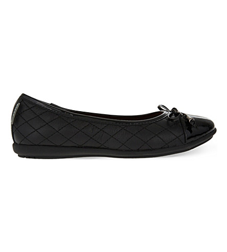 STEP2WO Kriss leather ballet flats 7-12 years (Black+leather