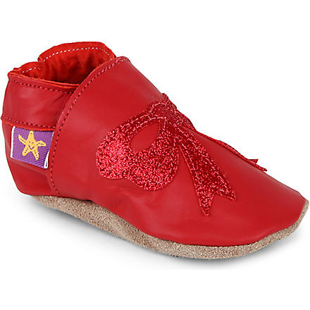 STARCHILD Glitter bow shoes 6 months (Red