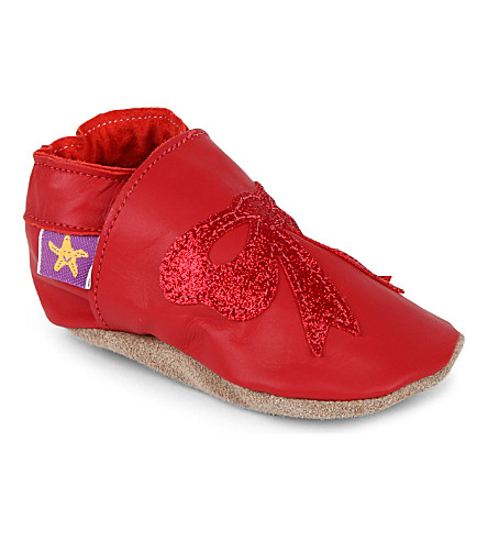 STARCHILD Glitter bow shoes 6 months-1 year (Red