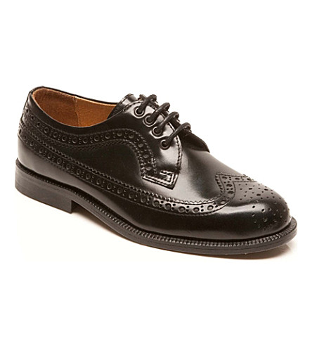 STEP2WO State brogues 7-12 years (Black+leather