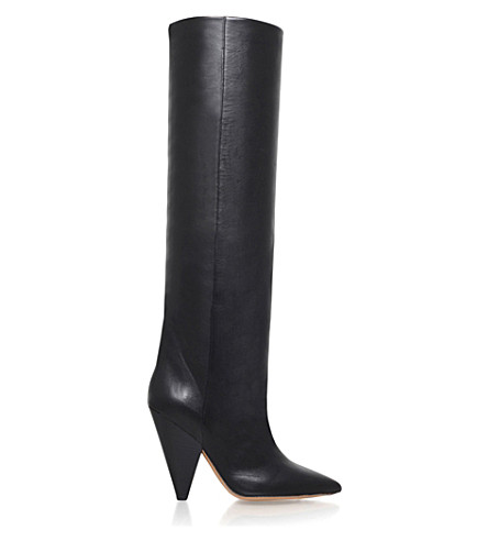 ISABEL MARANT Laith leather knee-high boots (Black