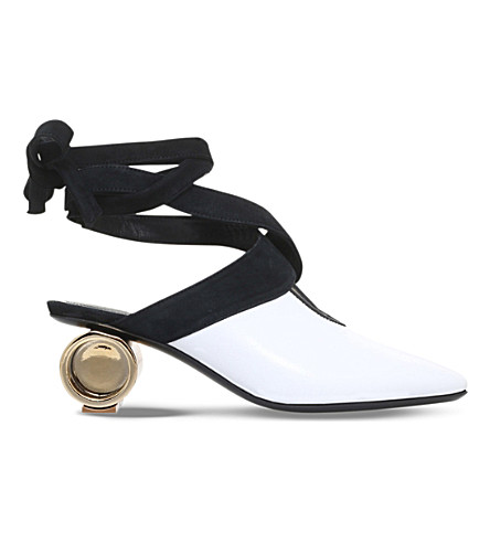 JW ANDERSON Cylinder leather ballet mules (White