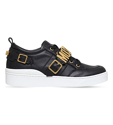 MOSCHINO Low-top logo trainers (Black