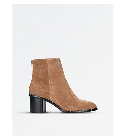 RAG AND BONE Willow micro-stud suede heeled ankle boots (Camel