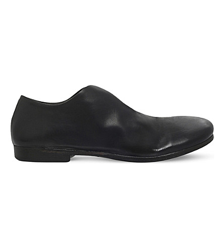 MARSELL Fungo leather loafers (Black