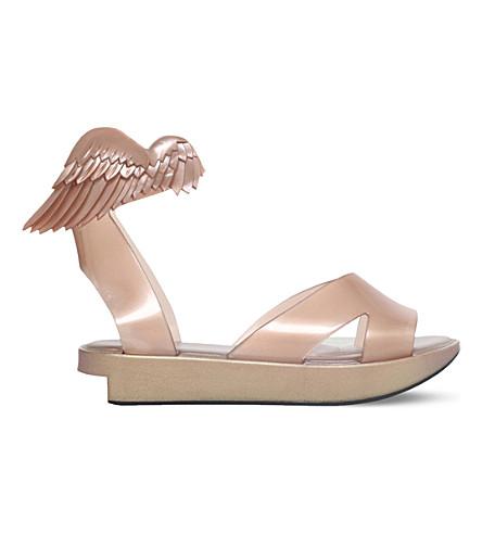 MELISSA + VIVIENNE WESTWOOD Rocking Horse flatform sandals (Gold