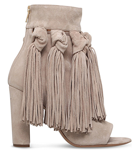 CHLOE Maya suede ankle boots (Beige