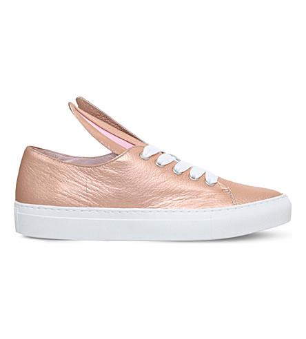 MINNA PARIKKA All Ears metallic-leather sneakers (Bronze