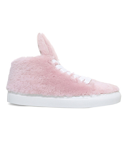 MINNA PARIKKA Bunny shearling trainers (Pale pink