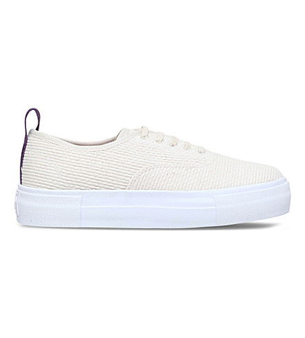 EYTYS Mother Kendo low-top canvas trainers (Cream