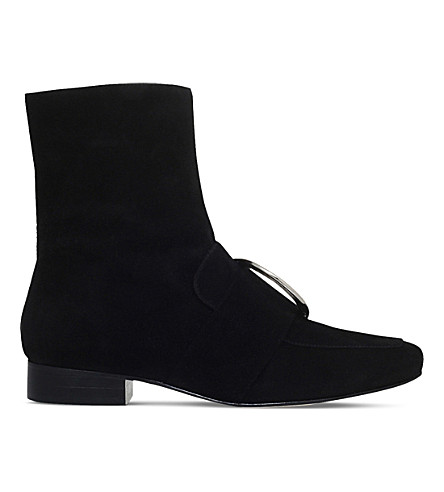 DORATEYMUR Biturbo velvet ankle boots (Black