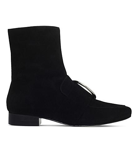 DORATEYMUR Biturbo velvet ankle boots (Black