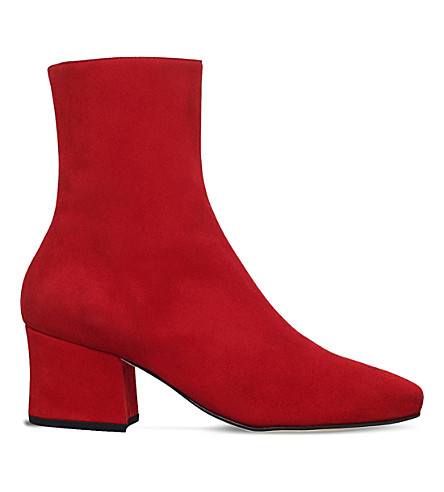 DORATEYMUR Sybil Leek suede boots (Red