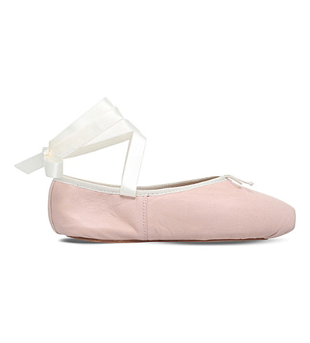 OPERA NATIONAL DE PARIS Preston Pointe leather ballet flats (Nude