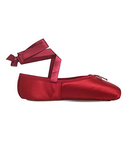 OPERA NATIONAL DE PARIS Preston pointe satin ballet flats (Red