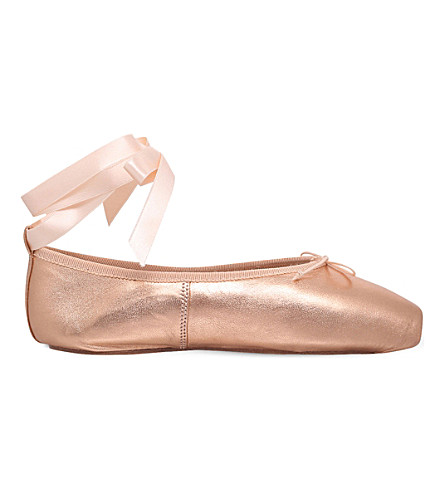 OPERA NATIONAL DE PARIS Preston pointe metallic-leather ballet flats (Bronze