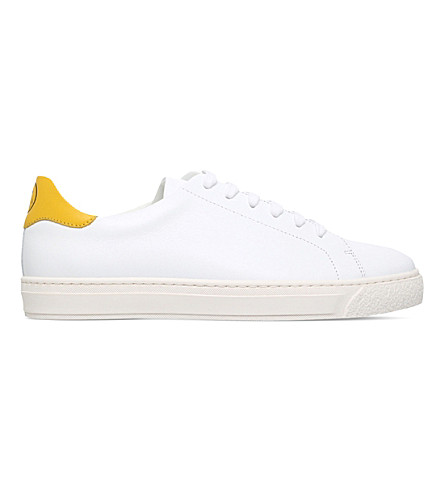 ANYA HINDMARCH Smiley Wink leather trainers (White