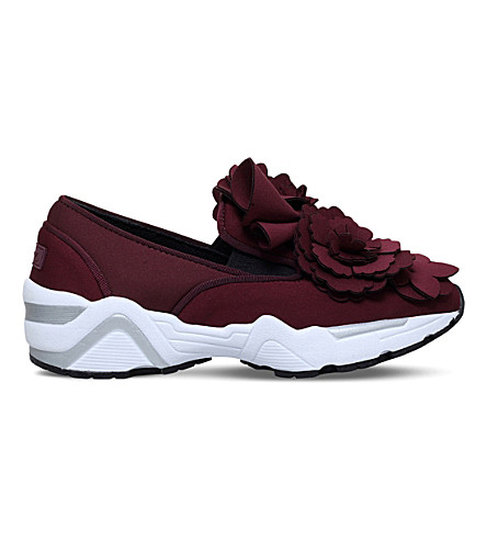 Wine SUECOMMA BONNIE 3D flower slip on textile trainers Best Choice