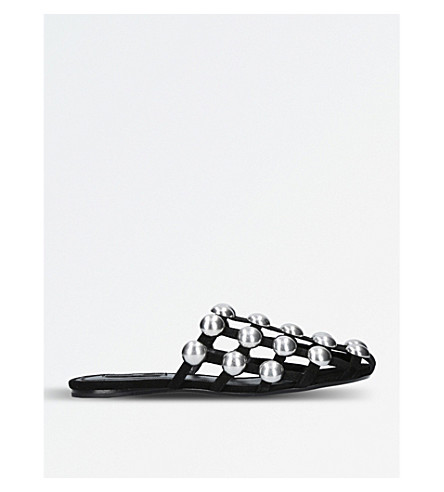 ALEXANDER WANG Amelia studded leather mules (Black