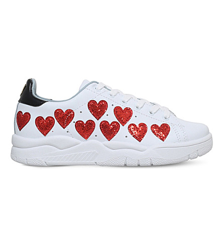 CHIARA FERRAGNI Multi heart sneaker (White/red