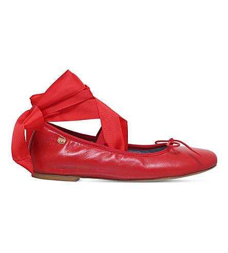 CHIARA FERRAGNI Leather ballet flats