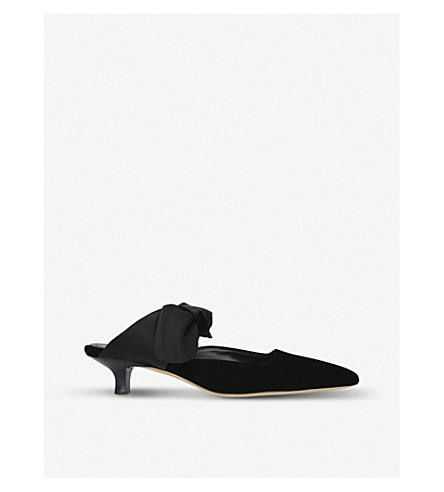THE ROW Coco suede mules (Black