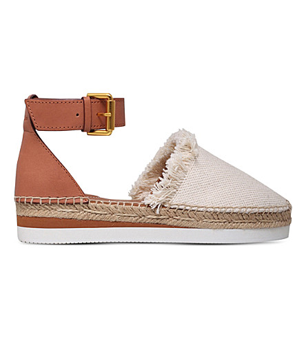 SEE BY CHLOE Glyn canvas and leather espadrilles