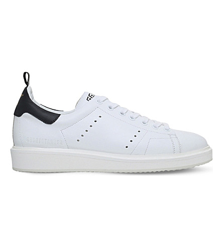 GOLDEN GOOSE Starter leather trainers (White/blk