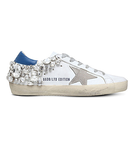 GOLDEN GOOSE Superstar leather trainers (Blue/pal.c