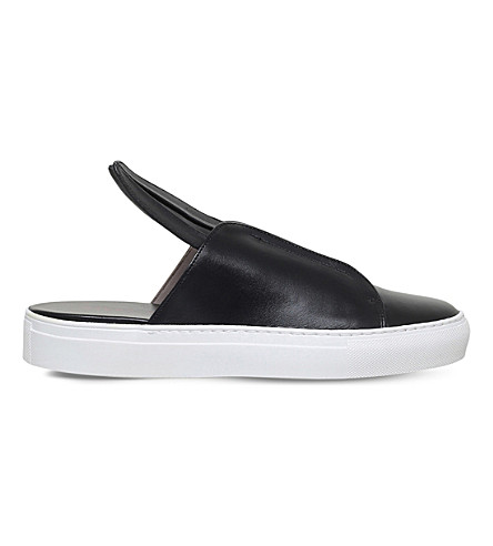 MINNA PARIKKA Bunny Slip leather trainers (Black