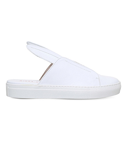 MINNA PARIKKA Bunny Slip leather trainers (White