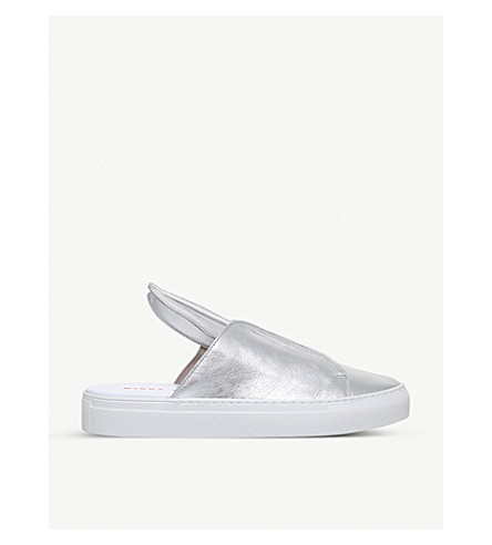 MINNA PARIKKA Bunny Slip leather sneakers (Silver