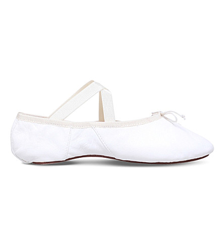 OPERA NATIONAL DE PARIS Solis leather ballet flats (White