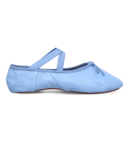 OPERA NATIONAL DE PARIS Solis leather ballet flats (Pale+blue