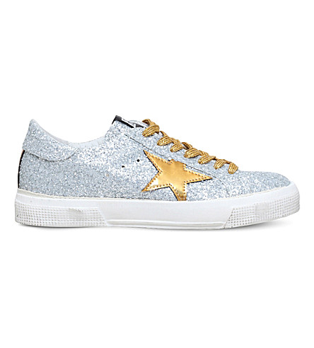 GOLDEN GOOSE May glitter trainers