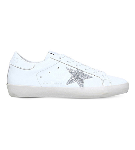... GOLDEN GOOSE Superstar swarovski-detail leather sneakers (White/oth.  PreviousNext