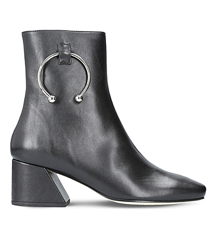 DORATEYMUR Nizip ring-detail leather boots (Black