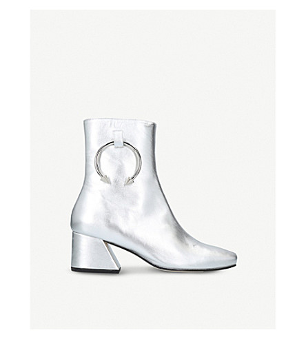 DORATEYMUR Nizip ring-detail leather boots (Silver