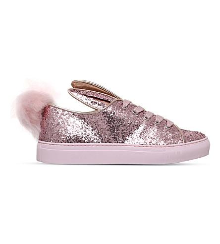 MINNA PARIKKA Tail pom-pom glitter trainers (Pale+pink